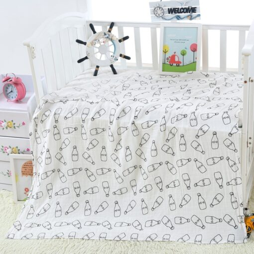 1PC 120cm 110cm Swaddle Blanket Baby Blanket Bamboo Muslin Blanket Baby Blankets Newborn Blanket Swaddle Cotton 5