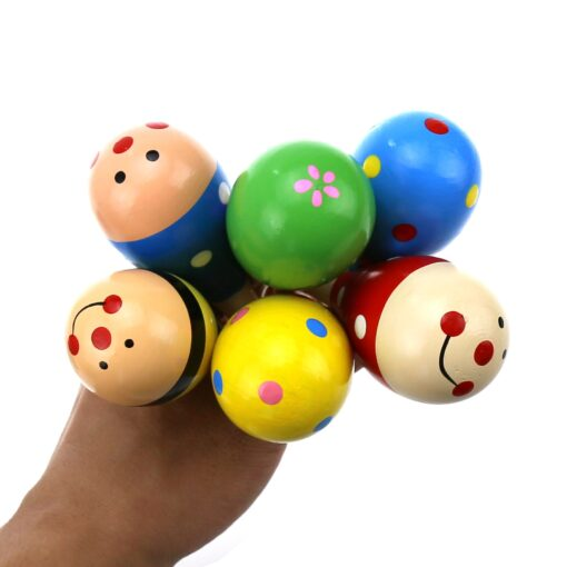 1PC Baby Colorful Wooden Hand Rattles Sand Hammer Child Baby Shaker Percussion Musical Instrument Kid Musical 1