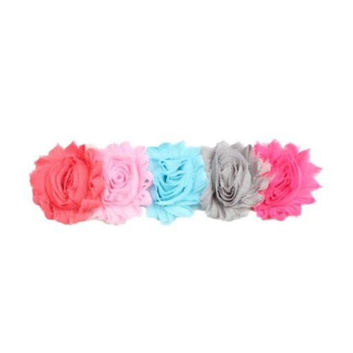 1PC Baby Cute Flower Headband Headwear Kids Toddler Girls Elastic Rainbow Flower Headwrap Hair Accessories Dropshipping 3