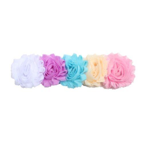 1PC Baby Cute Flower Headband Headwear Kids Toddler Girls Elastic Rainbow Flower Headwrap Hair Accessories Dropshipping 4