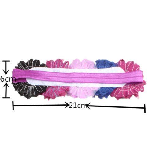 1PC Baby Cute Flower Headband Headwear Kids Toddler Girls Elastic Rainbow Flower Headwrap Hair Accessories Dropshipping 5