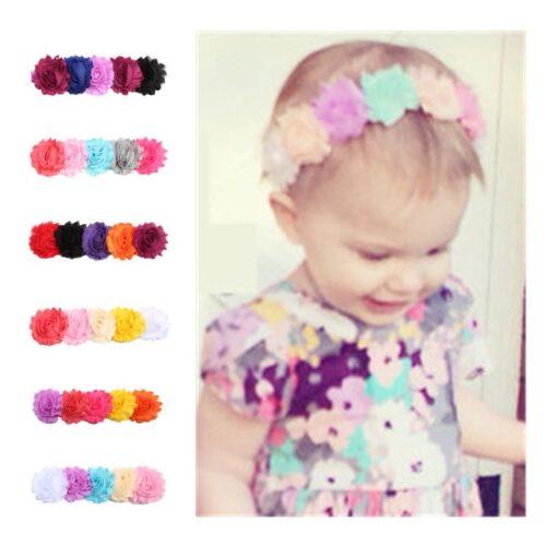 1PC Baby Cute Flower Headband Headwear Kids Toddler Girls Elastic Rainbow Flower Headwrap Hair Accessories Dropshipping