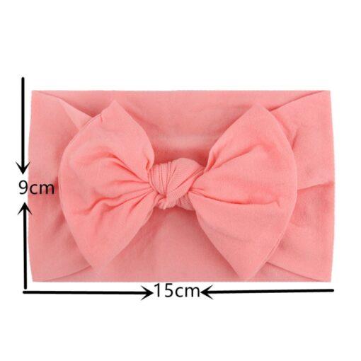 1PC Brand New Newborn Toddler Baby Girls Super Soft Nylon Chiffon Hairband Cute Bow knot Princess 4