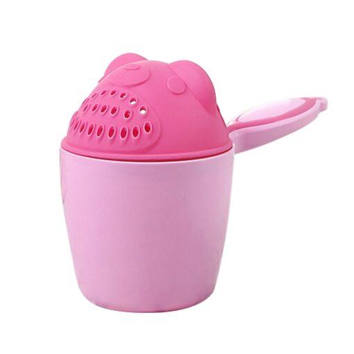 1PC Cute Cartoon Shampoo cup Baby Spoon Shower Bath Water Swimming Head Watering Bottle Todder Kids 1