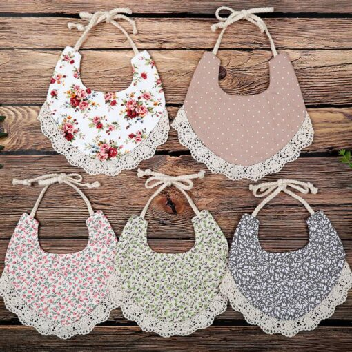 1PC Newborn Baby Boys Girls Cute Saliva Towel Feed Triangle Double deck Cotton Bibs Dribble Bandana