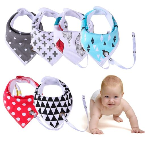 1PC Saliva Towel Infant Burp Cloths Triangle Towel Baby Bibs Anti drop Rope Baby Feeding Accessory
