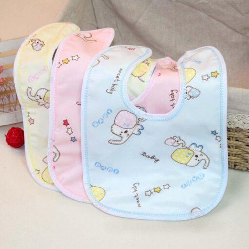 1PCS Baby Cotton Bibs Kids Girl Boy Children Cartoon Waterproof Dinner Feeding Bib Infant Newborn Burp 3