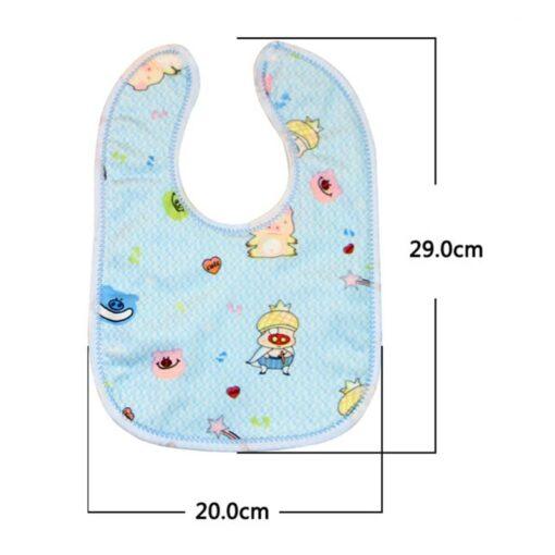 1PCS Baby Cotton Bibs Kids Girl Boy Children Cartoon Waterproof Dinner Feeding Bib Infant Newborn Burp 4