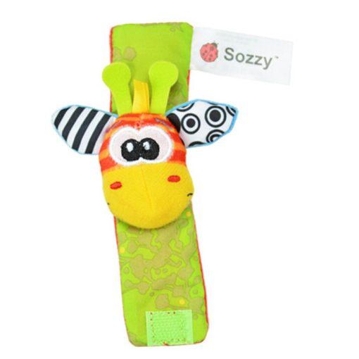 1Pair Baby Cartoon Rattle Sock Infant Baby Kids Socks Rattle Toys Wrist Rattle Foot Socks 0 1