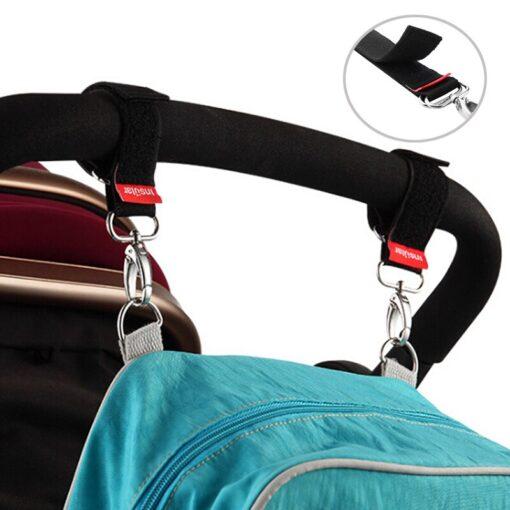 1Pairs Baby Stroller Hooks Baby Stroller Accessories Hanger Hooks Pram Pushchair Buggy Hanging Straps