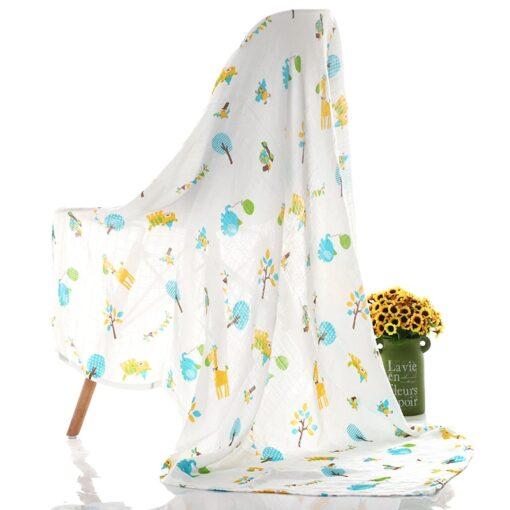1Pc Muslin 100 Cotton Baby Swaddles Soft Newborn Blankets Bath Gauze Infant Wrap Sleepsack Stroller Cover 1