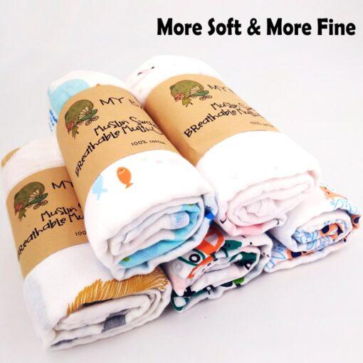 1Pc Muslin 100 Cotton Baby Swaddles Soft Newborn Blankets Bath Gauze Infant Wrap Sleepsack Stroller Cover 13
