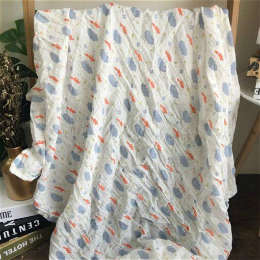 1Pc Muslin 100 Cotton Baby Swaddles Soft Newborn Blankets Bath Gauze Infant Wrap Sleepsack Stroller Cover 16