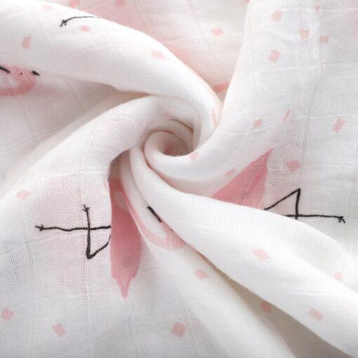 1Pc Muslin 100 Cotton Baby Swaddles Soft Newborn Blankets Bath Gauze Infant Wrap Sleepsack Stroller Cover 2