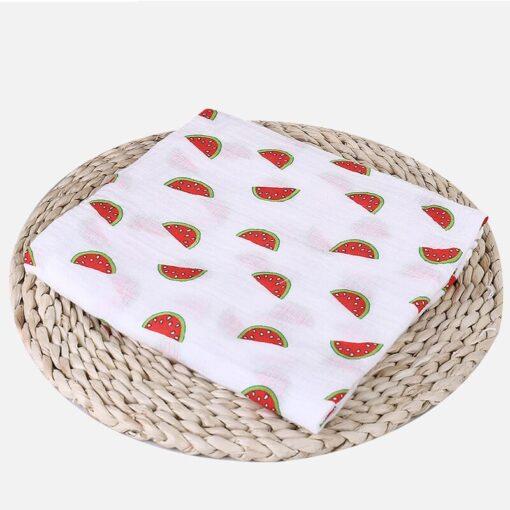 1Pc Muslin 100 Cotton Baby Swaddles Soft Newborn Blankets Bath Gauze Infant Wrap sleepsack Stroller cover 11