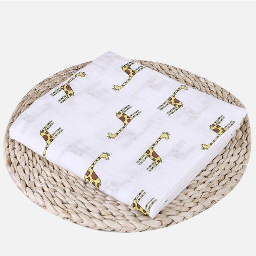1Pc Muslin 100 Cotton Baby Swaddles Soft Newborn Blankets Bath Gauze Infant Wrap sleepsack Stroller cover 19
