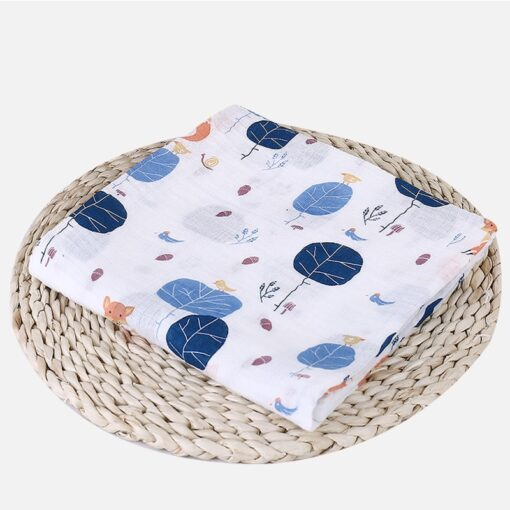 1Pc Muslin 100 Cotton Baby Swaddles Soft Newborn Blankets Bath Gauze Infant Wrap sleepsack Stroller cover 26