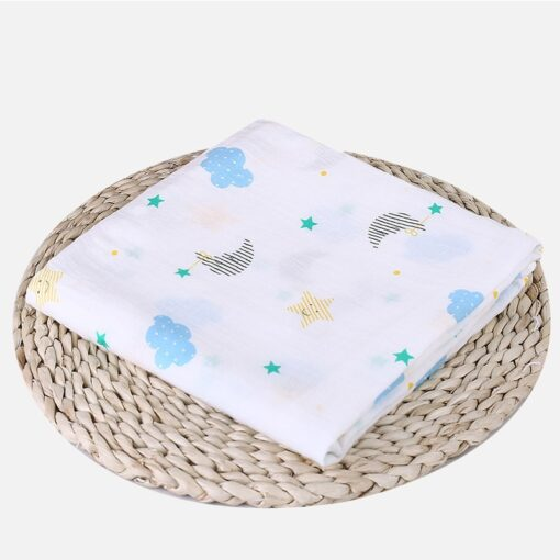 1Pc Muslin 100 Cotton Baby Swaddles Soft Newborn Blankets Bath Gauze Infant Wrap sleepsack Stroller cover 9