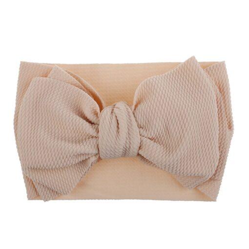 1Pc Nylon Elastic Baby Girl Headband Headdress Toddler Girl Bowknot Headband Stretch Hairband Headwear Plain Headband 1