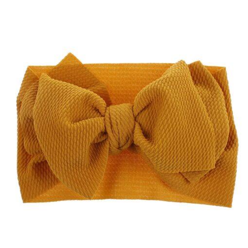 1Pc Nylon Elastic Baby Girl Headband Headdress Toddler Girl Bowknot Headband Stretch Hairband Headwear Plain Headband 2