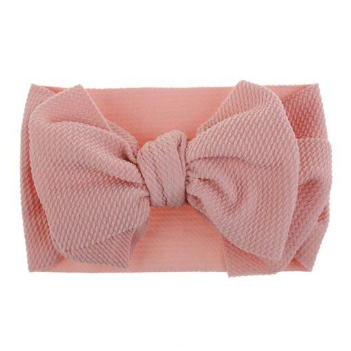 1Pc Nylon Elastic Baby Girl Headband Headdress Toddler Girl Bowknot Headband Stretch Hairband Headwear Plain Headband 3