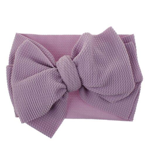 1Pc Nylon Elastic Baby Girl Headband Headdress Toddler Girl Bowknot Headband Stretch Hairband Headwear Plain Headband 4