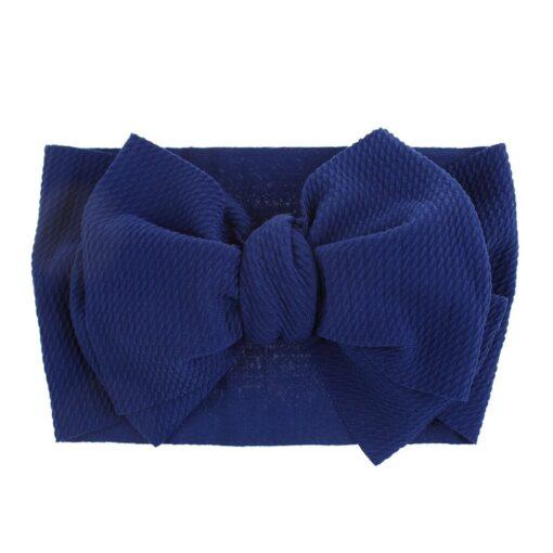 1Pc Nylon Elastic Baby Girl Headband Headdress Toddler Girl Bowknot Headband Stretch Hairband Headwear Plain Headband 5