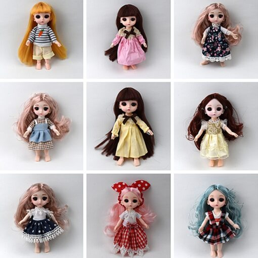 1Pcs 16cm Baby Doll Clothes Fashion Dress Daily Casual Wear Doll Accessories DIY Dress Up Mini 1
