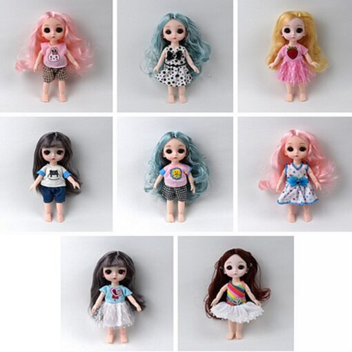 1Pcs 16cm Baby Doll Clothes Fashion Dress Daily Casual Wear Doll Accessories DIY Dress Up Mini 2