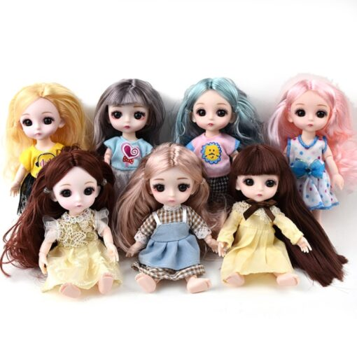 1Pcs 16cm Baby Doll Clothes Fashion Dress Daily Casual Wear Doll Accessories DIY Dress Up Mini
