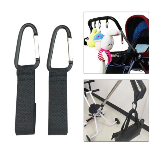 1Pcs Baby Stroller Accessories Multi Purpose Infant Stroller Hook Shopping Pram Wheelchair Carabiner Clip Carriage Bag
