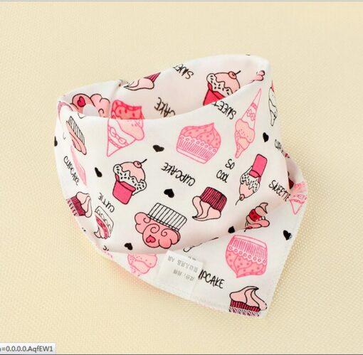 1Pcs Infant Kids Baby Boy Girl Burp Cloths Unisex Feeding Saliva Towel Dribble Triangle Bandana Bibs 5