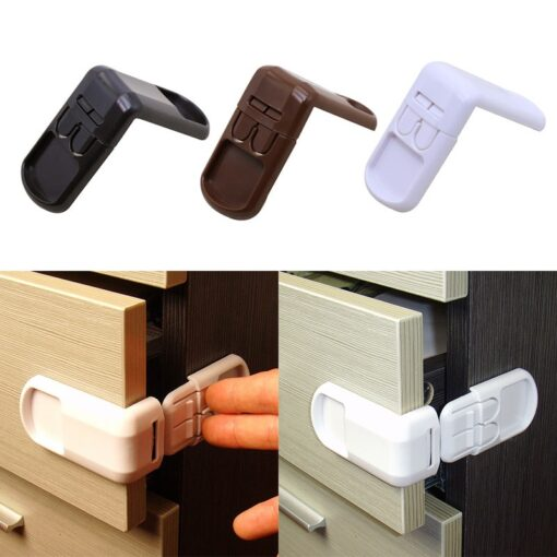 1pc Baby Safety Locks Protection From Children In Cabinets Boxes Lock Drawer Door Terminator Cabinet Right