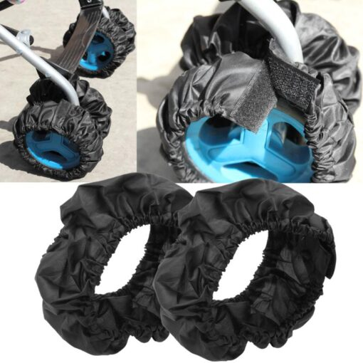 1pc Baby Stroller Wheel Cover Stroller Accessories Pram Buggy Handle Bumble Bar Grip Wheel Cover Anti