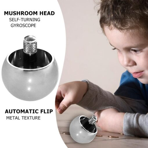 1pc Metal Flip Over Top Gyro Spinning Top Toys Kids Educational Toy Gifts Automatic Flip Metal 1