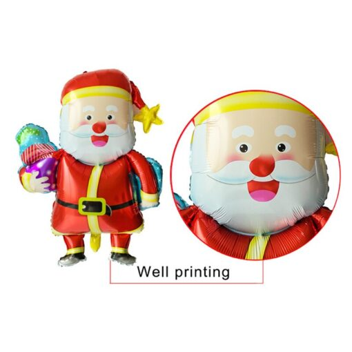 1pc Santa Claus Christmas balloon New Year Balloon Party Decoration Xmas Party Decor 2020 Kids Ball 1