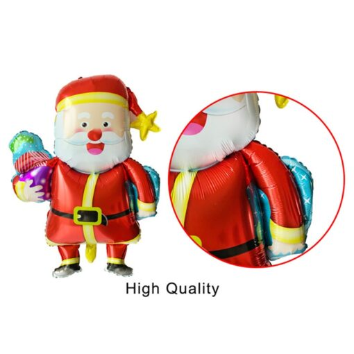 1pc Santa Claus Christmas balloon New Year Balloon Party Decoration Xmas Party Decor 2020 Kids Ball 3