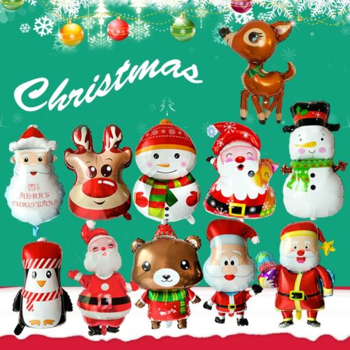 1pc Santa Claus Christmas balloon New Year Balloon Party Decoration Xmas Party Decor 2020 Kids Ball