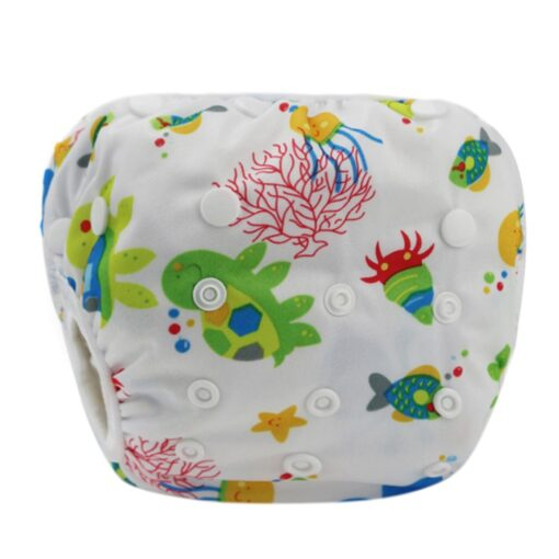 1pc Swim Cloth Diapers Baby Toddler Boy Girl Print Safe Reuseable Adjustable For Baby Swimming Lesson 1