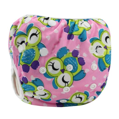 1pc Swim Cloth Diapers Baby Toddler Boy Girl Print Safe Reuseable Adjustable For Baby Swimming Lesson 2