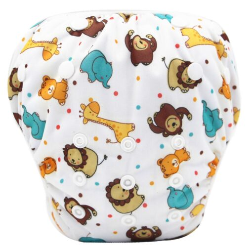 1pc Swim Cloth Diapers Baby Toddler Boy Girl Print Safe Reuseable Adjustable For Baby Swimming Lesson 3