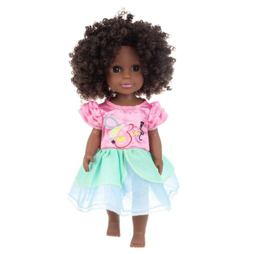 1pcs 35cm multi style African black baby explosion head black skin baby toy 1