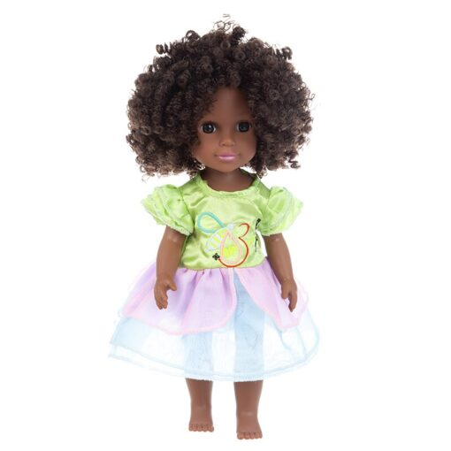 1pcs 35cm multi style African black baby explosion head black skin baby toy 2