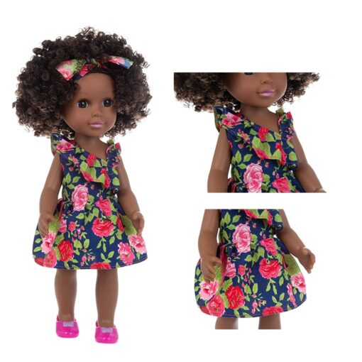 1pcs 35cm multi style African black baby explosion head black skin baby toy 3