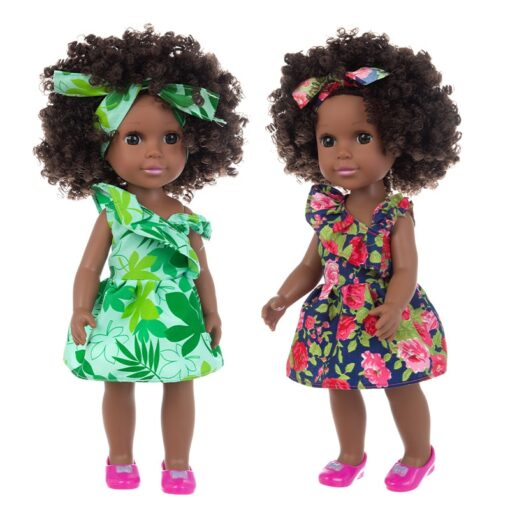1pcs 35cm multi style African black baby explosion head black skin baby toy 4