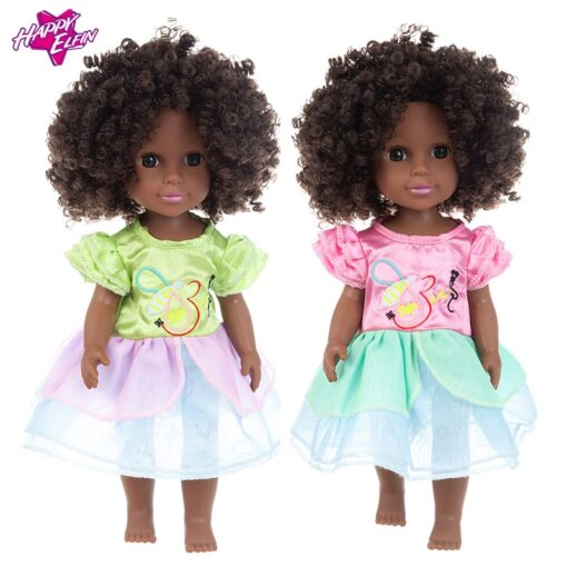 1pcs 35cm multi style African black baby explosion head black skin baby toy 5