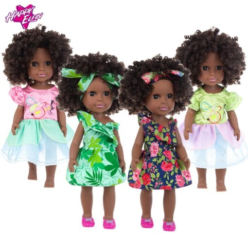 1pcs 35cm multi style African black baby explosion head black skin baby toy