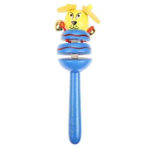 1pcs Baby Rattles Toys Wooden Activity Bell Stick Shaker Toys for Newborn Baby Hand Shaking Bells 5