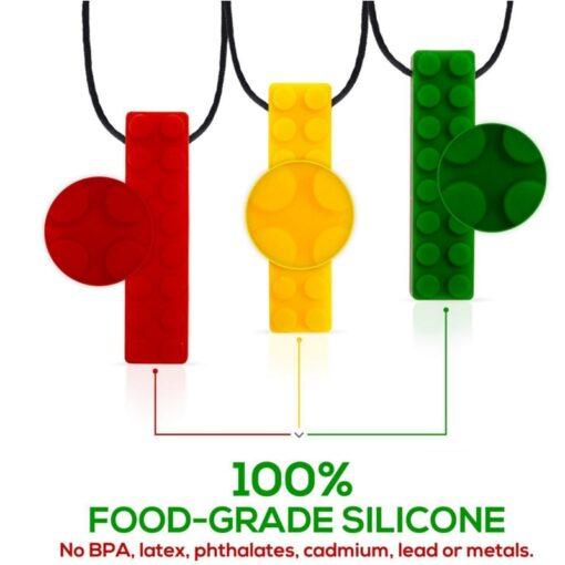 1pcs Baby Teether Silicone Teething Toys Pencil Teether Pen Cap Food Grade Chewable Necklace Pendant Kids 2