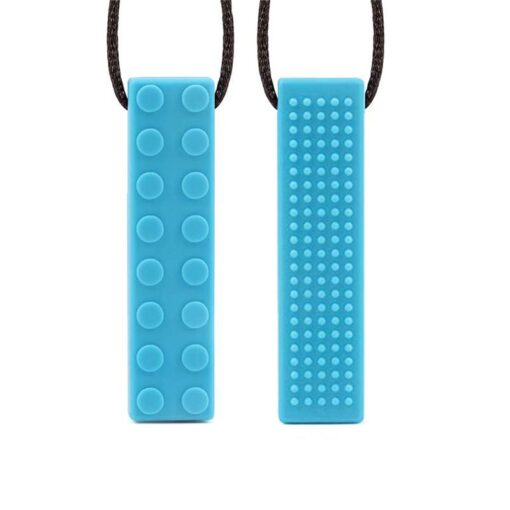 1pcs Baby Teether Silicone Teething Toys Pencil Teether Pen Cap Food Grade Chewable Necklace Pendant Kids